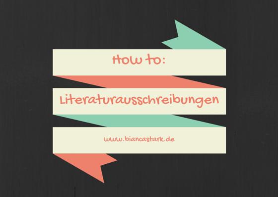 how to literaturausschreibungen
